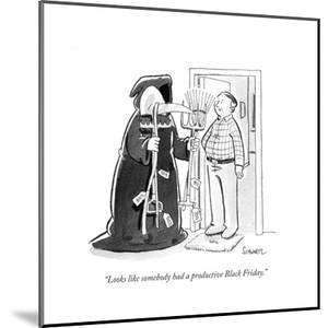 """""""Looks like somebody had a productive Black Friday."""" - Cartoon by Benjamin Schwartz"""