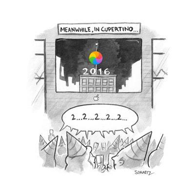 Meanwhile, in Cupertino - Cartoon by Benjamin Schwartz