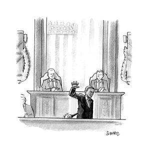 Obama Mic Drop - Cartoon by Benjamin Schwartz