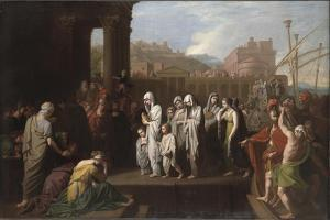 Agrippina Landing at Brundisium with the Ashes of Germanicus, 1768 by Benjamin West