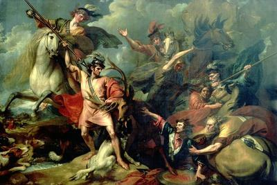 Alexander III of Scotland Rescued from the Fury of a Stag by the Intrepidity of Colin Fitzgerald