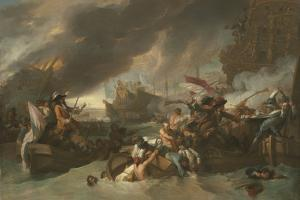 Battle of La Hogue, C. 1778 by Benjamin West