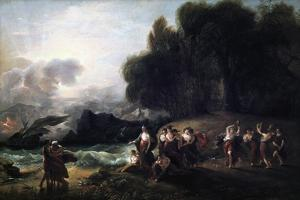 Calypso's Reception of Telemachus and Mentor, 1801 by Benjamin West