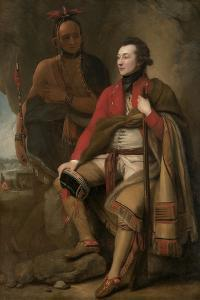 Colonel Guy Johnson and Karonghyontye (Captain David Hill), 1776 by Benjamin West