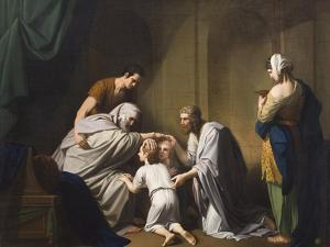 Jacob Blessing Ephraim and Manasseh, 1766-68 by Benjamin West