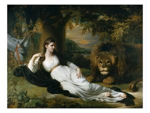 Mary Hall in the Character of Una by Benjamin West