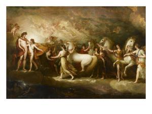 Phaëton sollicitant d'Apollon la conduite du Soleil by Benjamin West