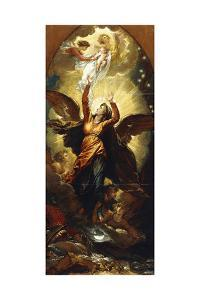 The Woman Clothed with the Sun Fleeth from the Persecution of the Dragon' by Benjamin West