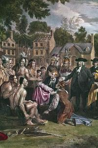 William Penn, English Quaker Colonist, Treating with Native North Americans, 1682 (1771-177) by Benjamin West