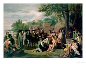 William Penn's Treaty with the Indians in November 1683, Painted 1771-72 by Benjamin West