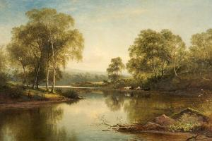 The Stream Through the Birch Woods, 1871 by Benjamin Williams Leader