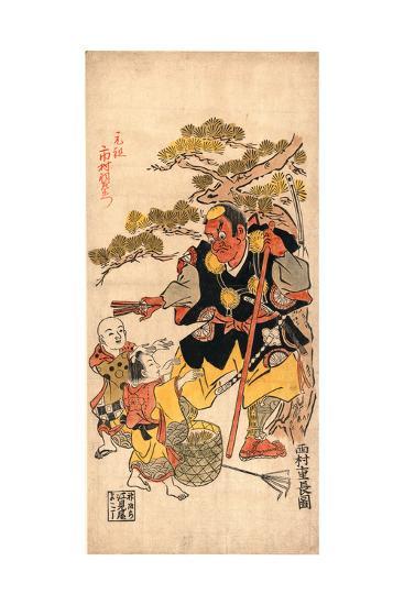 Benkei to Kodomo (Ataka No Matsu)-Nishimura Shigenaga-Giclee Print