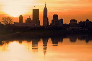 Morning Silhouette of Indianapolis by benkrut