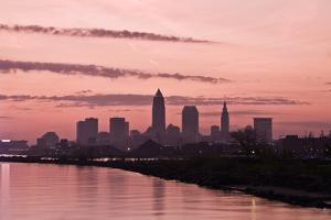 Silhouette of Downtown Cleveland by benkrut