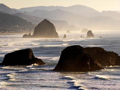 Cannon Beach Seen from Ecola State Park, Oregon.