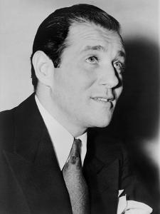 Benny 'Bugsy' Siegel in 1947, the Year of His Murder in His Beverly Hills Mansion