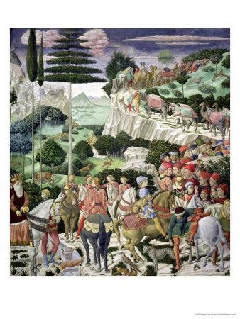 The Journey of the Magi to Bethlehem, the Left Hand Wall of the Chapel, circa 1460