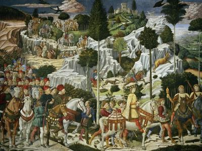 The Journey of the Magi to Bethlehem, the Right Hand Wall of the Chapel, circa 1460