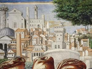 Architecture of City of Rome, Detail from Stories of St. Augustine, 1465 by Benozzo Gozzoli