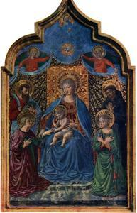 'Mystical Marriage of St Catherine', 1466 (1930).Artist: Benozzo Gozzoli by Benozzo Gozzoli