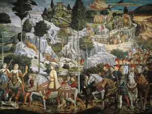 Procession of Magi Kings to Bethlehem by Benozzo Gozzoli