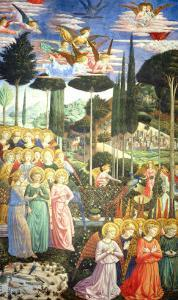 Procession of the Magi: Angels in Adoration by Benozzo Gozzoli