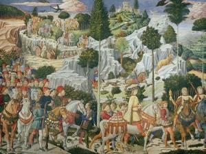 Procession of the Magi: Wall with Lorenzo by Benozzo Gozzoli