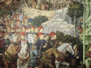 Procession Showing Cosimo the Elder, Detail from the Procession of the Magi by Benozzo Gozzoli