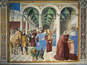 St. Augustine Arriving in Milan, Detail from Stories of St. Augustine, 1465 by Benozzo Gozzoli