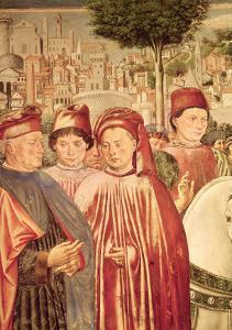 St. Augustine Departing for Milan, from the Cycle of the Life of St. Augustine, 1464-65 by Benozzo Gozzoli