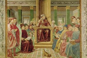 St. Augustine Reading Rhetoric and Philosophy at the School of Rome by Benozzo Gozzoli