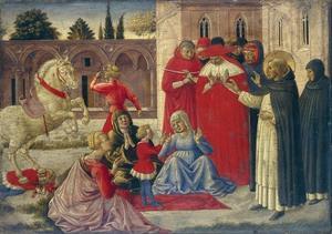 St Dominic Resurrects Napoleone Orsini, 1461-1462 by Benozzo Gozzoli