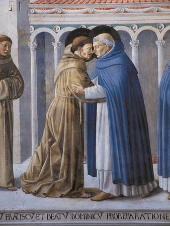 St Francis Meeting of St.Francis and St. Dominic