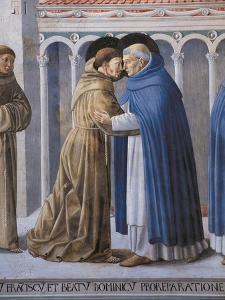 St Francis Meeting of St.Francis and St. Dominic by Benozzo Gozzoli