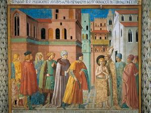 St. Francis Renunciation of Paternal Wealth by Benozzo Gozzoli