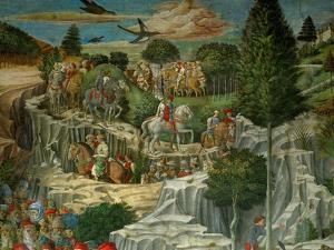 The Adoration of the Magi. Fresco (1459). by Benozzo Gozzoli