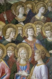 The Journey of the Magi to Bethlehem. Detail: Angels. 1459 - 60 by Benozzo Gozzoli
