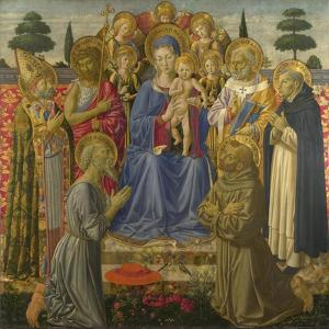 The Virgin and Child Enthroned Among Angels and Saints, 1460S by Benozzo Gozzoli