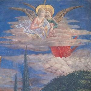 Worshipping Angels by Benozzo Gozzoli