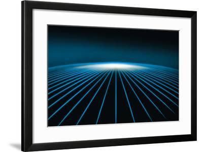 Bent Horizon Line Graphic-Comstock-Framed Photographic Print