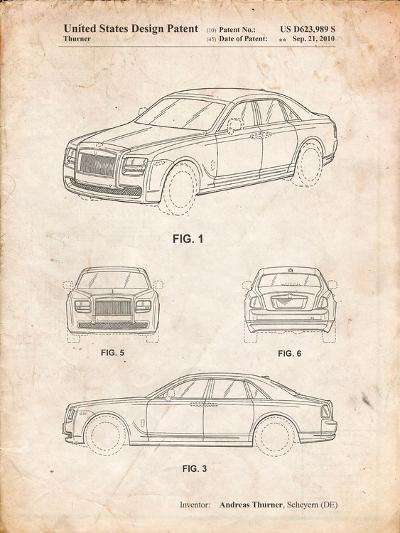 Bentley Phantom Patent-Cole Borders-Art Print