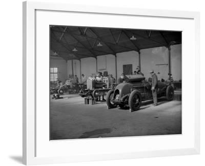 Bentley Race Cars--Framed Photographic Print