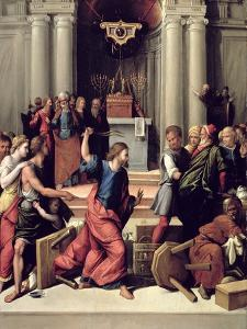 Christ Driving the Money-Changers from the Temple by Benvenuto Tisi Da Garofalo