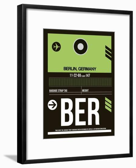 BER Berlin Luggage Tag 2-NaxArt-Framed Art Print