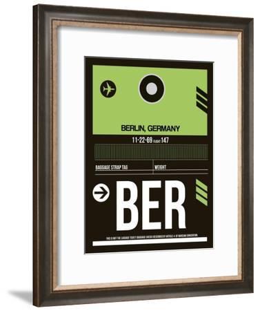 BER Berlin Luggage Tag 2-NaxArt-Framed Art Print