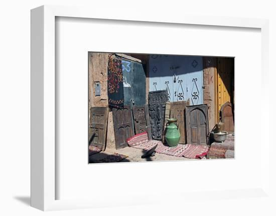 Berber Doors, Ourzazate, Morocco, Africa-Kymri Wilt-Framed Photographic Print