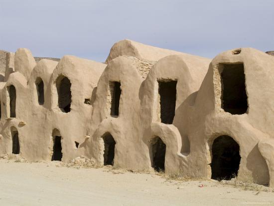 Berber Grain Storage Units, Now a Hotel, Ksar Halouf, Tunisia, North Africa, Africa-Ethel Davies-Photographic Print