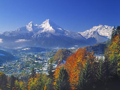 Berchtesgaden and Mount Watzmann-Walter Geiersperger-Photographic Print