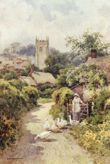 Bere Regis, Dorset-Ernest W Haslehust-Photographic Print