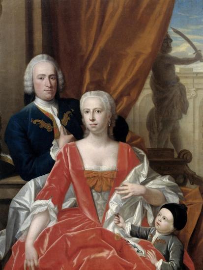 Berend Van Iddekinge with His Wife and their Son-Philip van Dijk-Art Print